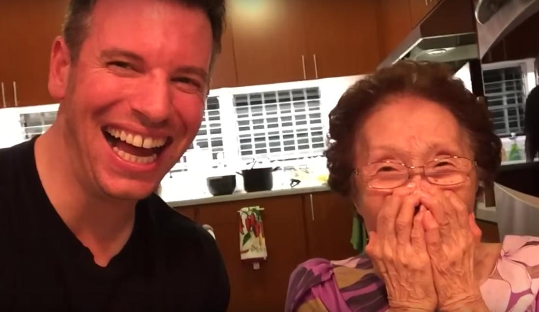 His Grandma Can't Stop Laughing To Their Selfie