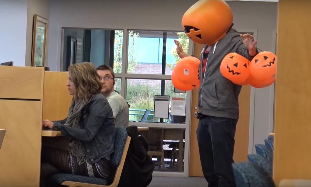 Dropping Pumpkins in Public Halloween Prank