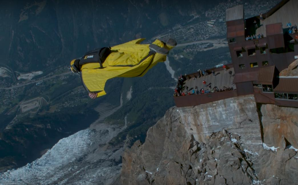 Jumping off the Alps in a Wingsuit