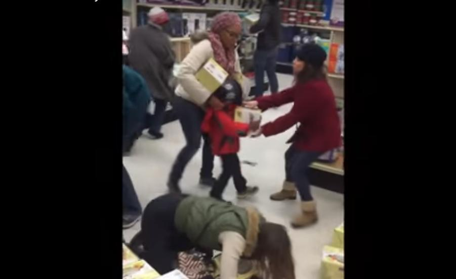 Lady Steals Item From Kid on Black Friday
