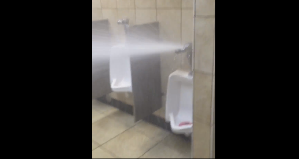 A Man Just Broke a Urinal and Made a Big Mess