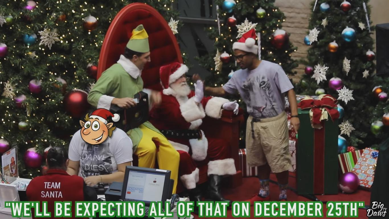 Watch Those Funny Nerd Rappers Troll the Mall Santa