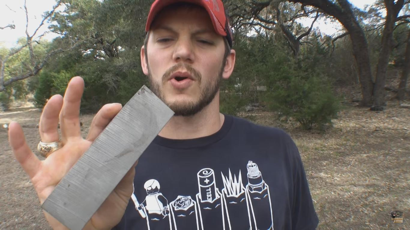 Can a Bullet Go Through a Block of Titanium?