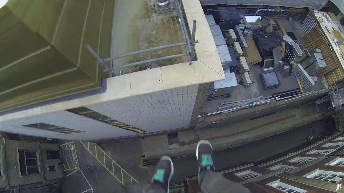 Watch This Guy Jumping from Roof to Roof in Cambridge