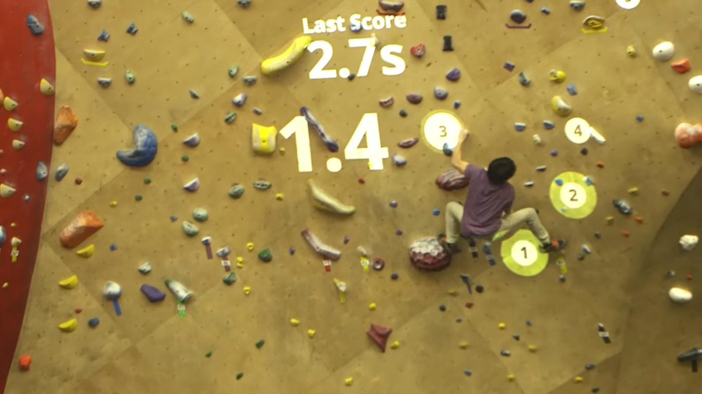 Sports Meet Video Games with This Augmented Climbing Wall