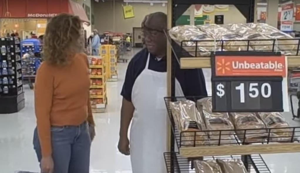 This Walmart French Bread Peddler Could Sell You Anything