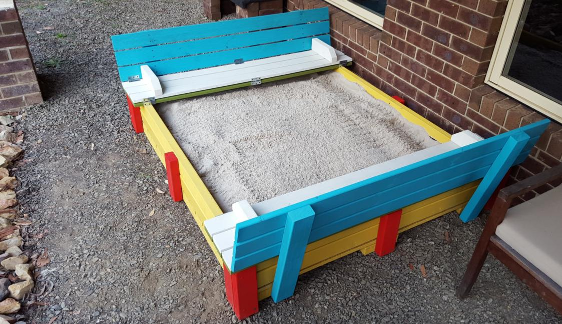 Dad Builds an Awesome Sandpit for His Daughter
