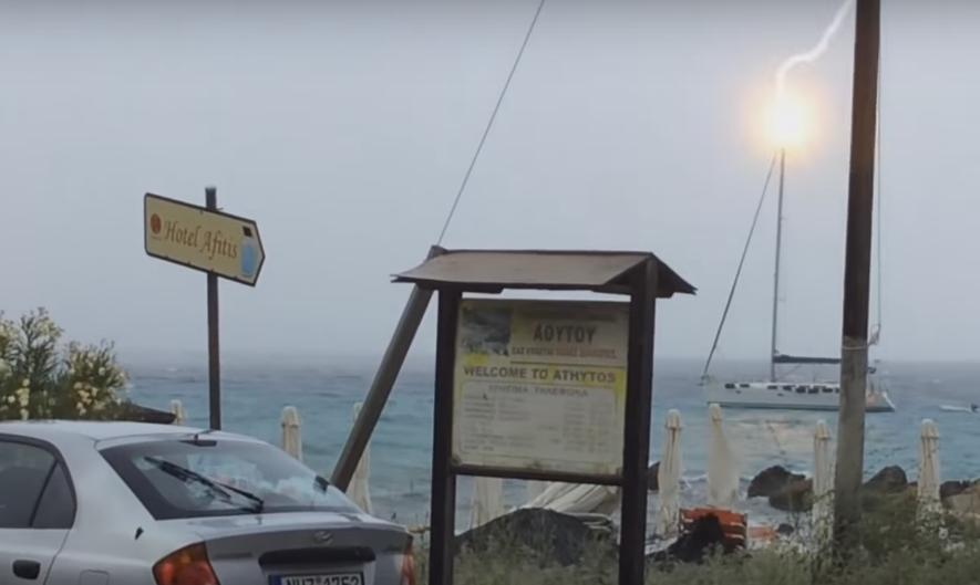 Watch This Sailboat Getting Hit by Lightning
