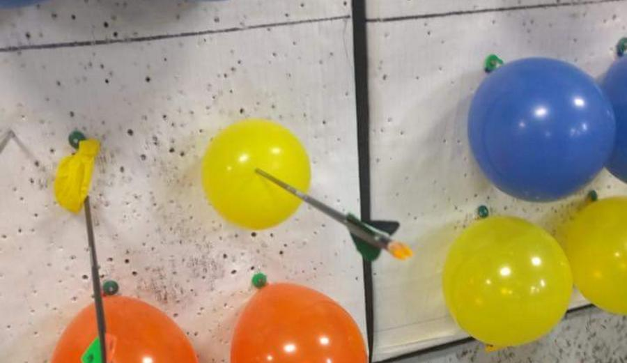 The Internet Freaks out About This Balloon Pierced by an Arrow That Didn't Pop
