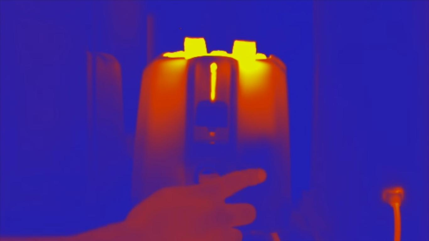Your Casual Breakfast Filmed With a Thermal Camera
