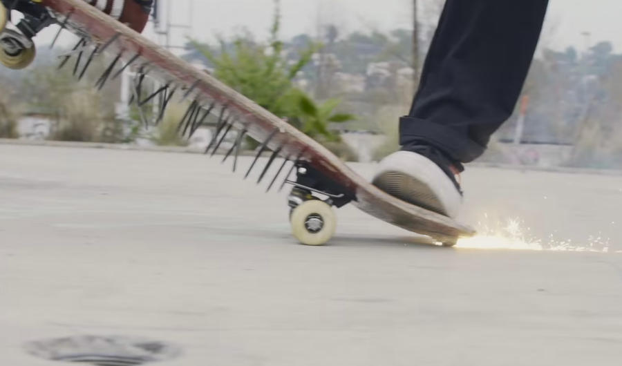 Watch This Guy Ride the World's Most Dangerous Skateboard