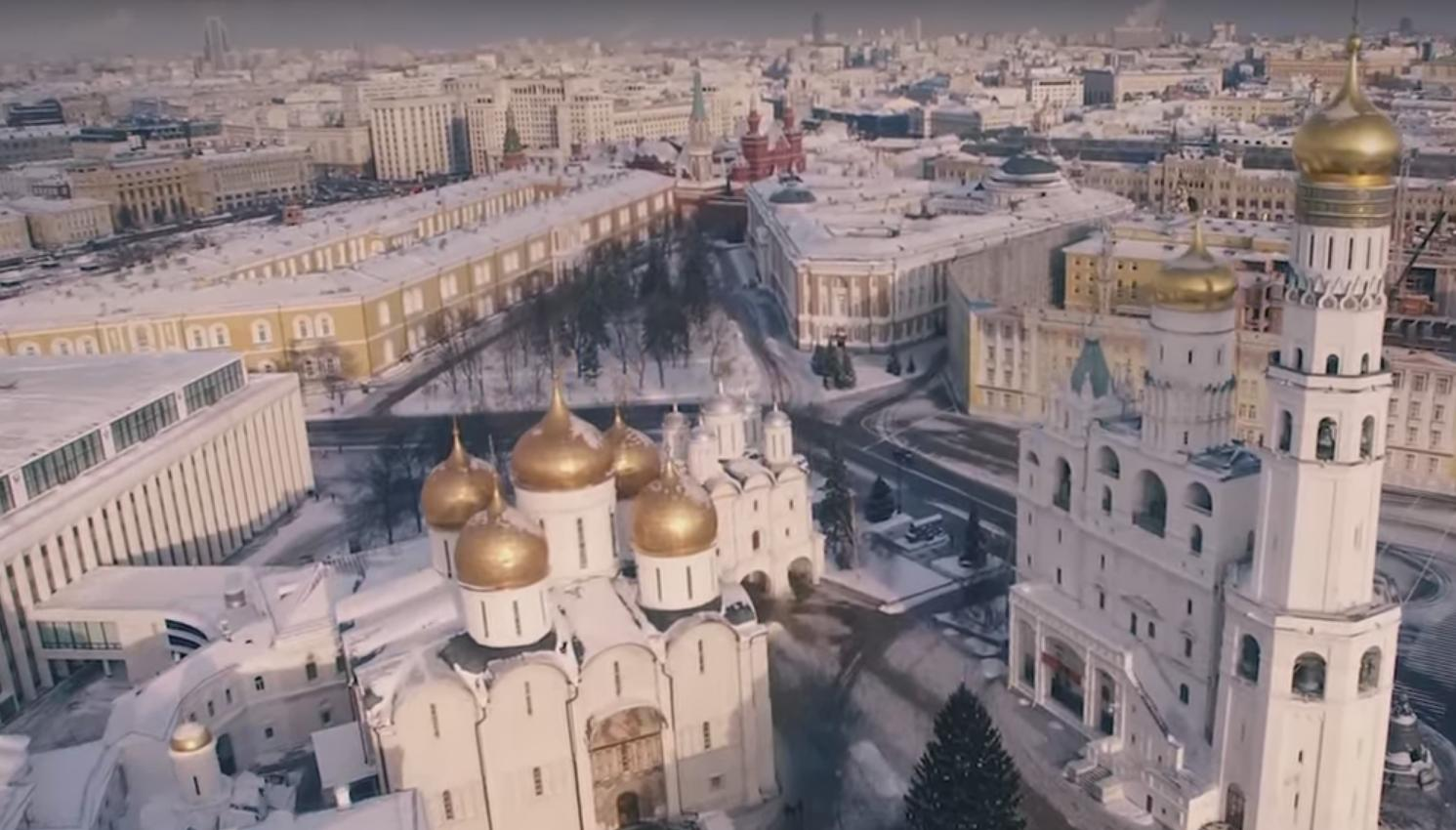 Beautiful Drone Footage of the City of Moscow