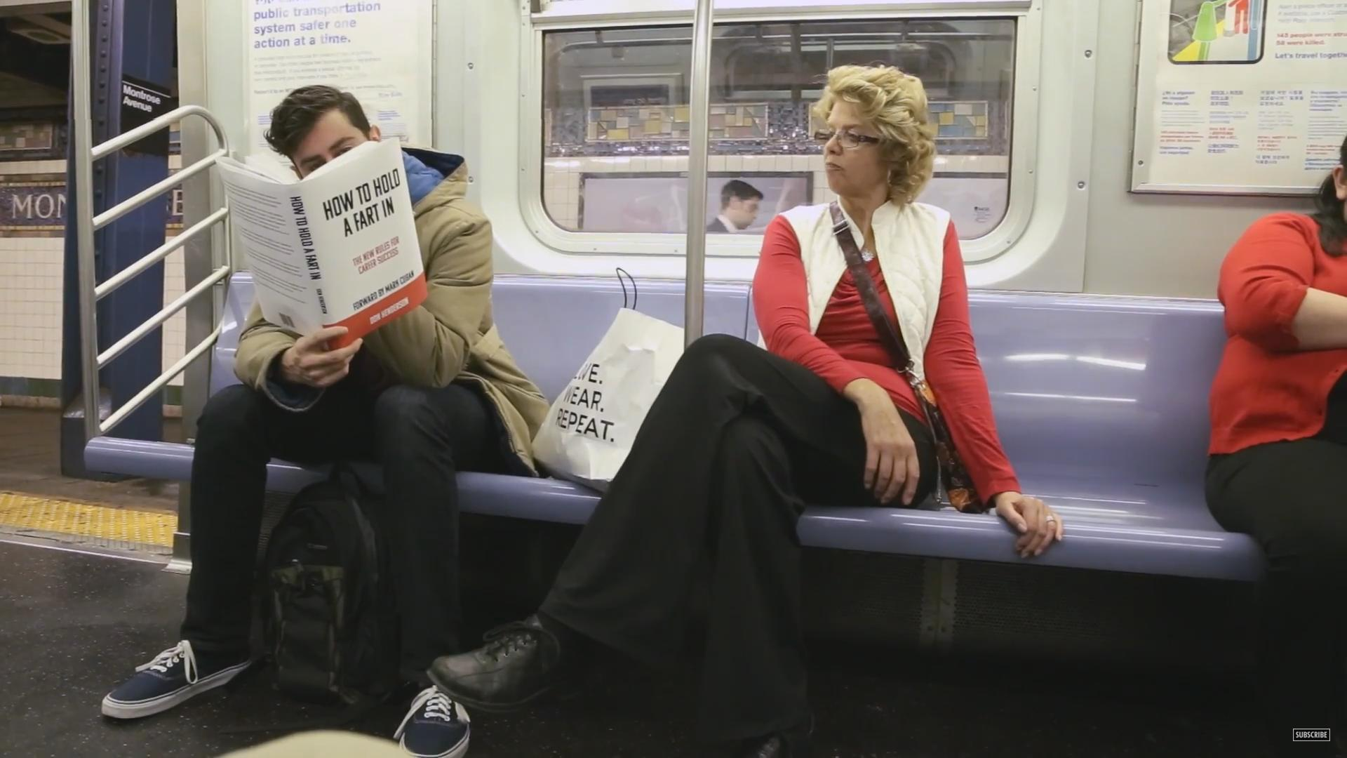 Reading Books With Hilarious Fake Covers on the Subway
