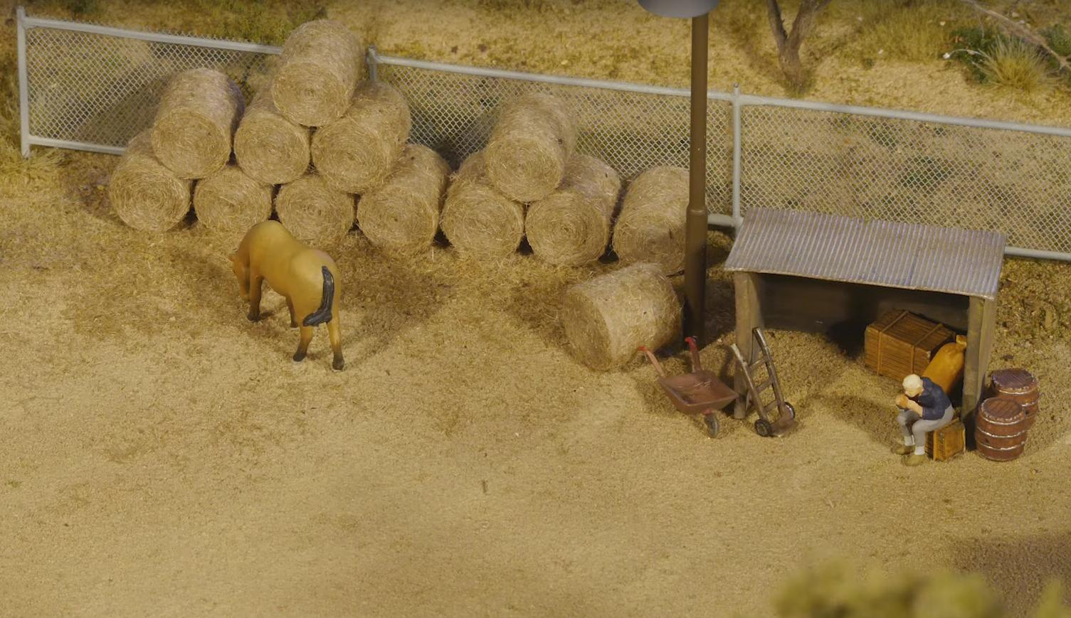 The Process of Making Realistic Miniature Hay Bales Is Quite Fascinating