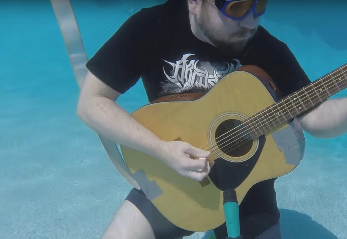 This Guy Wanted to Find out If He Could Play Guitar Underwater