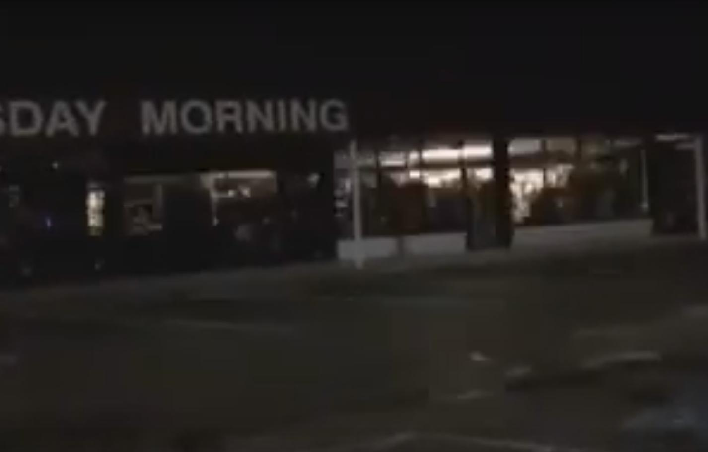 Lights Going Crazy in a Closed Store in the Middle of the Night