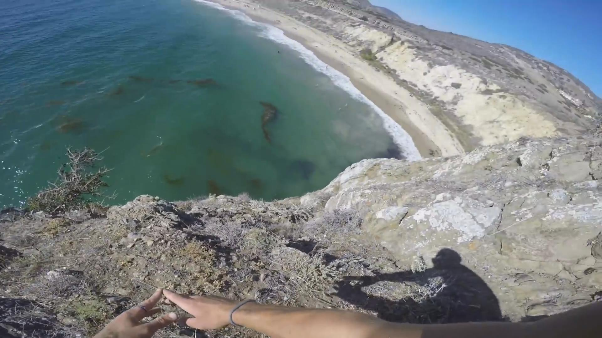 Probably the Scariest Cliff Jump You've Ever Seen
